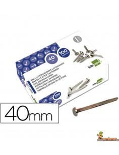 Encuadernador latonado cabeza redonda 40 mm