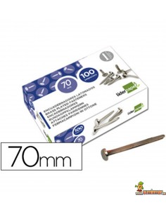 Encuadernador latonado cabeza redonda 70 mm