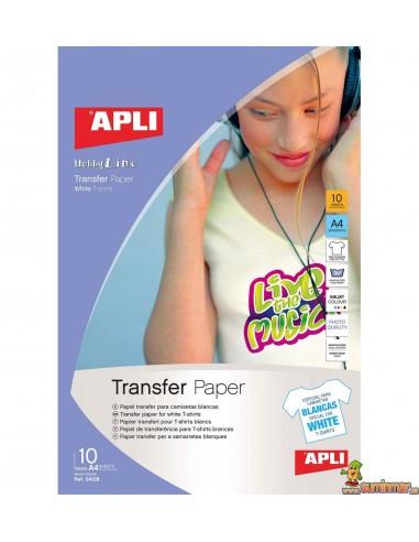 Papel transfer para tela A4 Apli