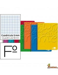 Cuaderno en espiral Folio 80hojas 60g/m2 cuadro 5mm con margen
