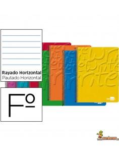 Cuaderno en espiral Folio 80hojas 60g/m2 1 raya con margen
