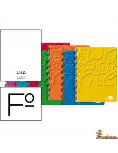Cuaderno en espiral Folio 80hojas 60g/m2 liso sin margen