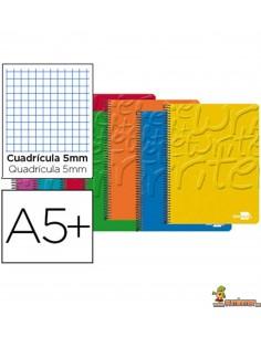 Cuaderno en espiral DIN A5 80hojas 60g/m2 cuadro 5mm con margen