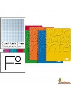 Cuaderno en espiral Folio 80hojas 60g/m2 milimetrado sin margen