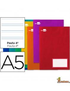 Libreta grapada DIN A5 32hojas 60g/m2 2 raya con margen