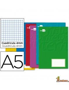 Libreta grapada DIN A5 32hojas 60g/m2 Cuadros 4mm con margen