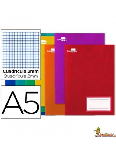 Libreta grapada DIN A5 32hojas 60g/m2 milimetrado con margen
