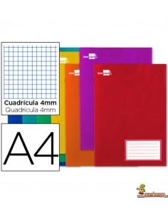 Libreta grapada DIN A4 32hojas 60g/m2 Cuadros 4mm con margen