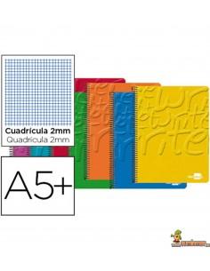 Cuaderno en espiral DIN A5 80hojas 60g/m2 milimetrado sin margen