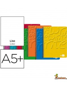 Cuaderno en espiral DIN A5 80hojas 60g/m2 liso sin margen