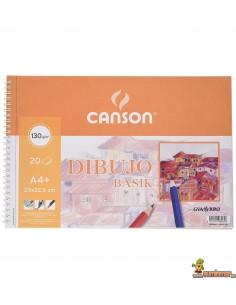 Bloc de dibujo Basik Canson DIN A4+ 130g 20 hojas Sin recuadro