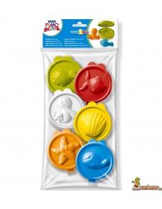 Moldes de animales marinos para plastilinas FIMO kids work&play