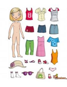 Gomets La ropa de niñas 37 uds