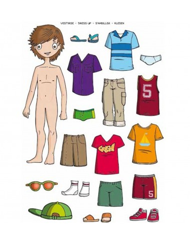 Gomets La ropa de niños 35 uds