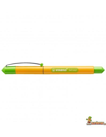 Pluma Stabilo beCrazy! - Duocolors amarillo soleado