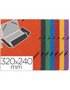 Carpeta de cartón 320x243 mm con gomas elásticas, 3 solapas Varios colores