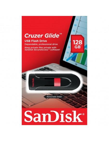 Pendrive Sandisk Cruzer Glide 128GB USB 2.0 SDCZ60-128G-B35