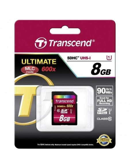 Tarjeta Transcend SDHC 8GB CL10 UHS-I TS8GSDHC10U1