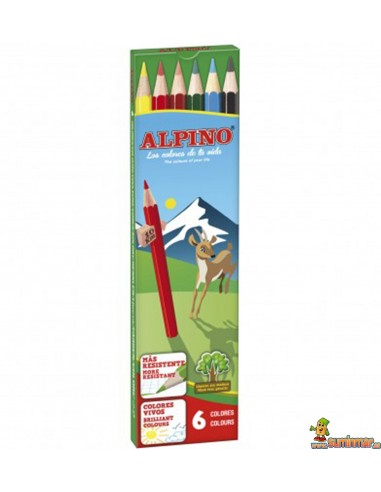 Lápices de colores Alpino. 6 colores