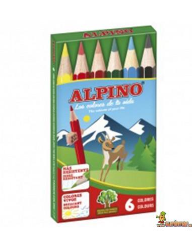 Alpino Lápices Cortos 6 ud