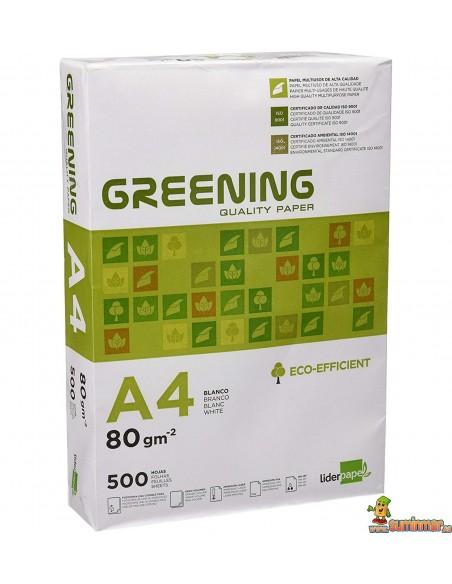 Papel greening A4 80g 500 hojas