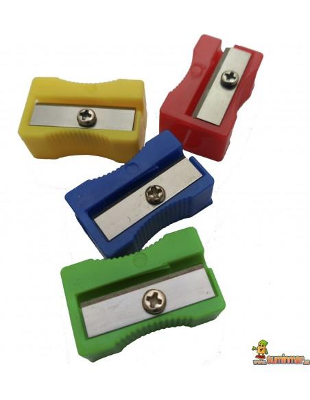 Sacapunta de plástico en varios colores
