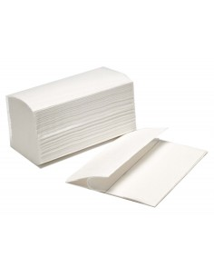 Toalla de papel secamanos amoos engarzada 2 capas 21x22 cm caja de 4000 unidades.